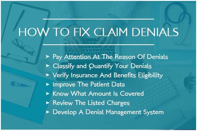 HOW TO FIX CLAIM DENIALS